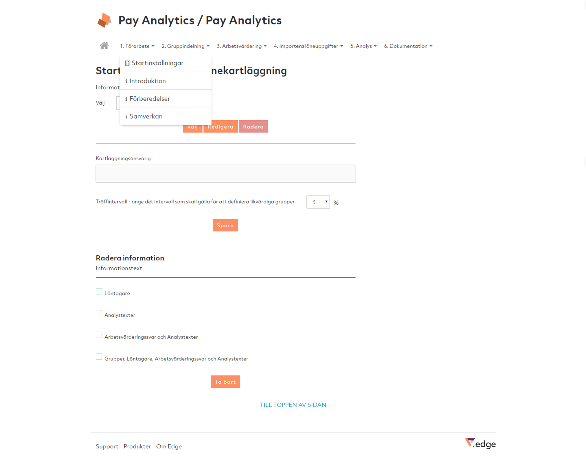 Pay Analytics Steg 1