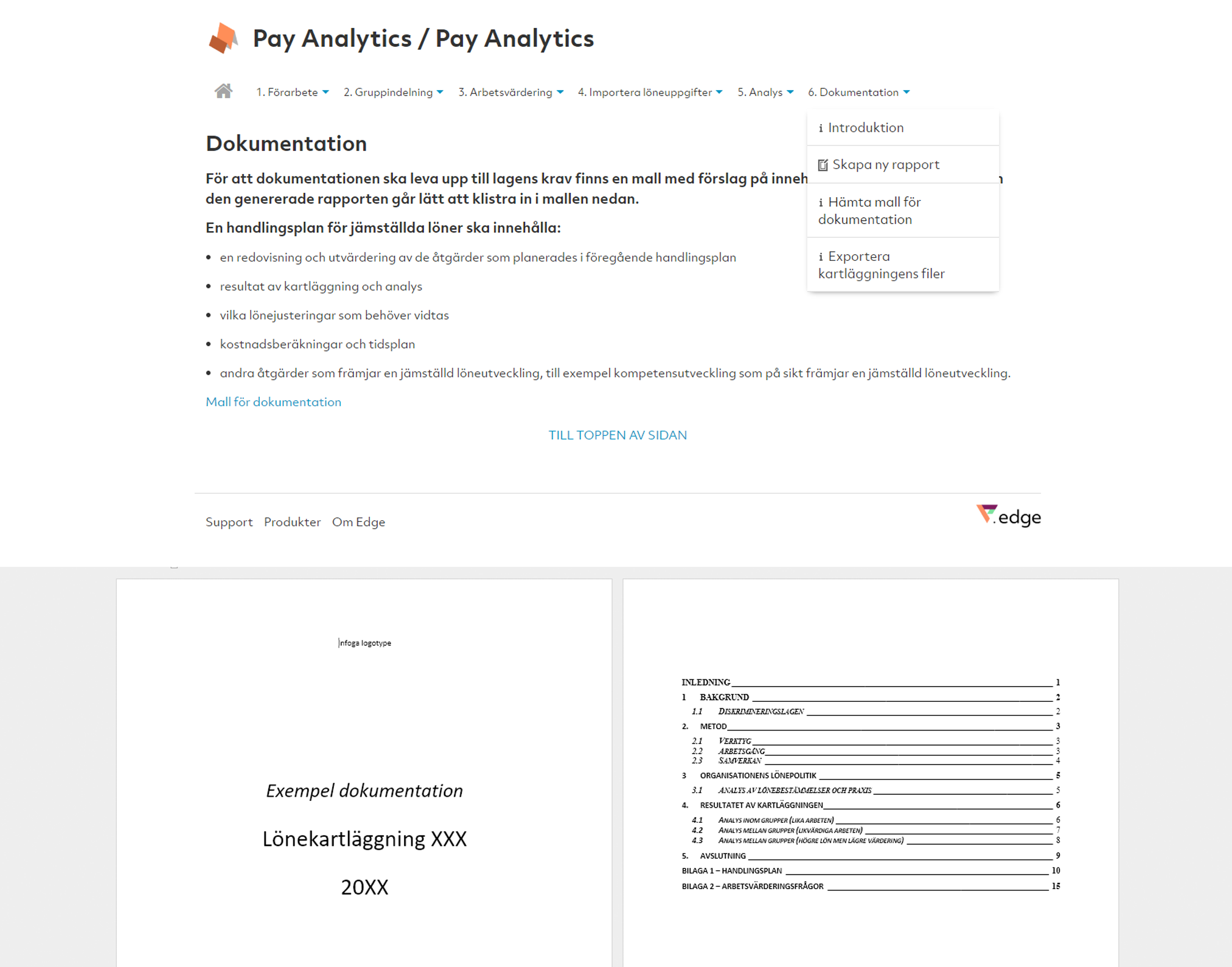 Pay Analytics Steg 6