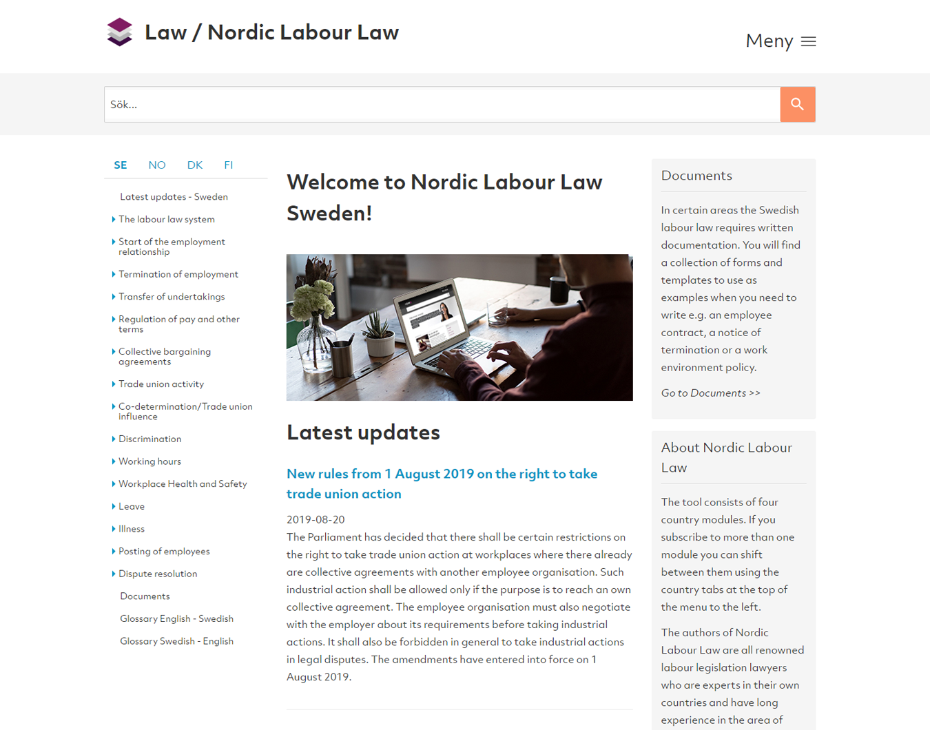 Startsida Nordic Labour Law